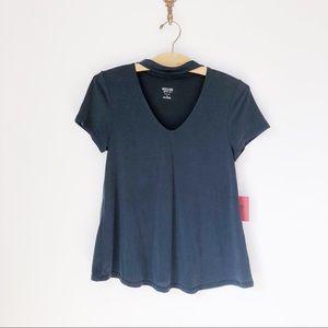 NWT Mossimo Charcoal Gray Choker Swingy T-Shirt
